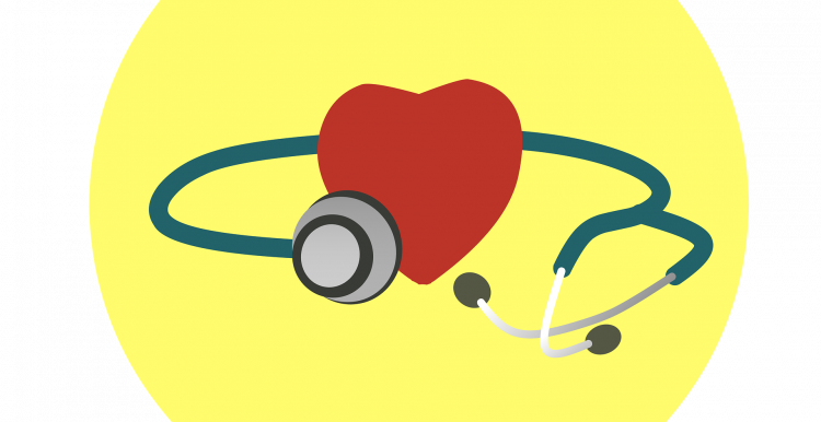 Graphic of a heart and a stethoscope