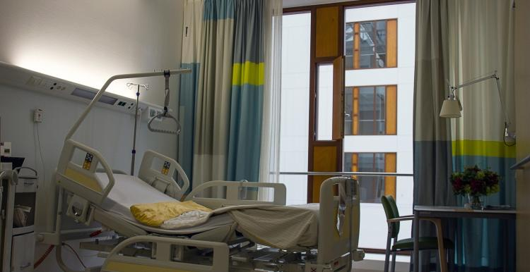 Inside a hospital room