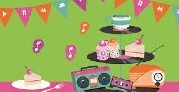 Musical tea month - afternoon tea with music notes