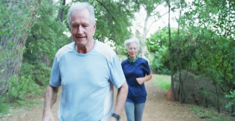 Running older couple
