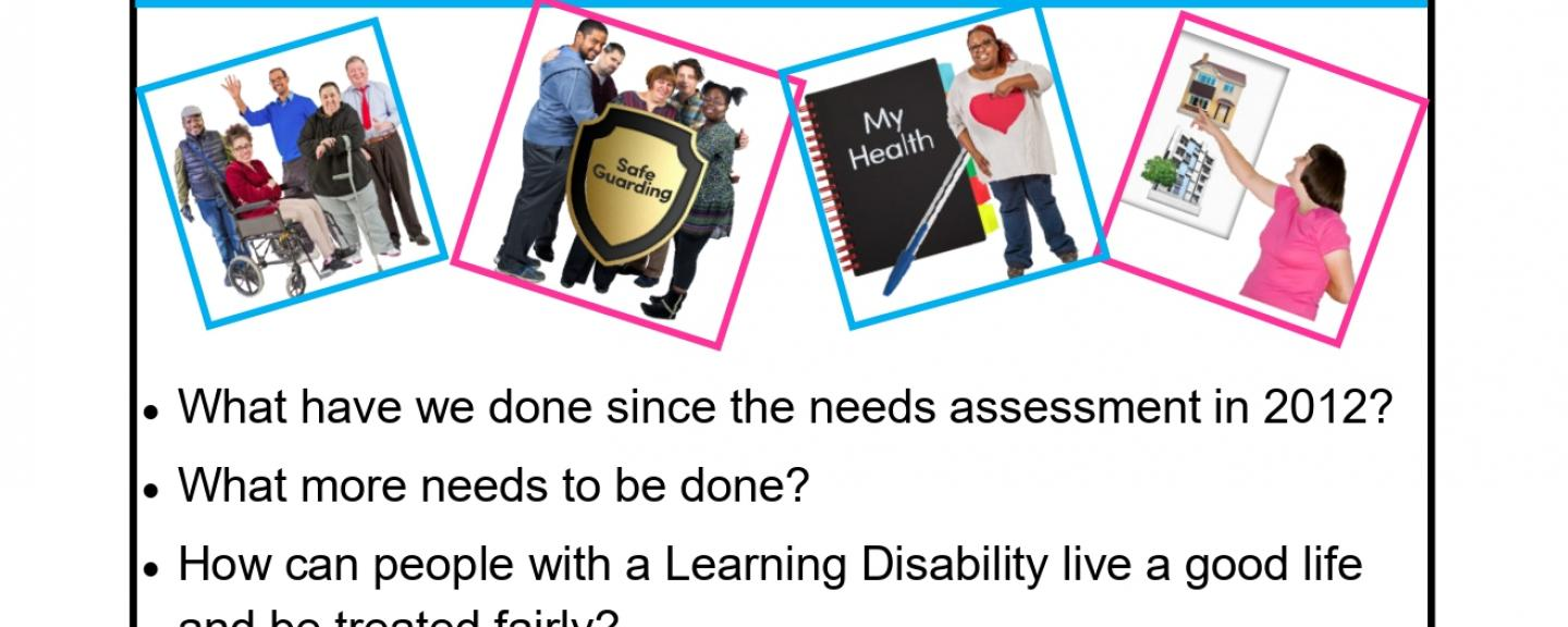 Poster for learning disability partnership board forum meeting