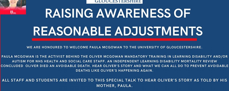 Raising Awareness of Reasonable adjustments