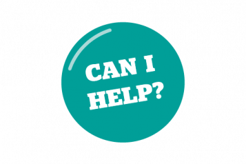 Infographic saying Can i help