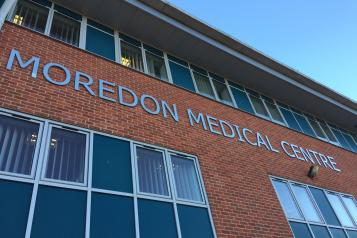 External shot of Moredon Medical Centre in Swindon