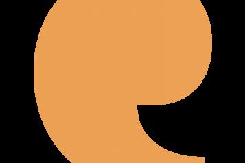 Orange speech mark