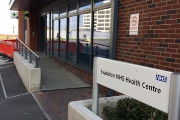 Entrance of Swindon NHS Health Centre