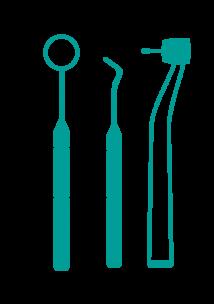 Infographic of dental equipment